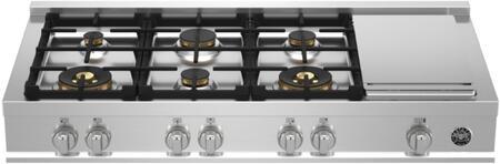Bertazzoni Master MAST486GRTBXTLP Gas Cooktop Stainless Steel, MAST486GRTBXT Rangetop