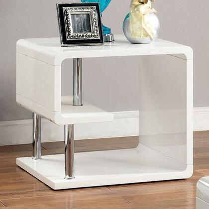 Furniture of America Ninove I CM4057E End Table White, Main Image