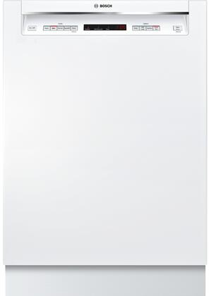 Bosch Shem63w52n 300 Series 24 Inch White Built In Full Console Dishwasher Appliances Connection