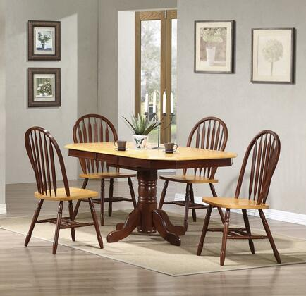 Sunset Trading Sunset Oak Selections DLUTCP3660820NLO5PC Dining Room Set Brown, Main Image
