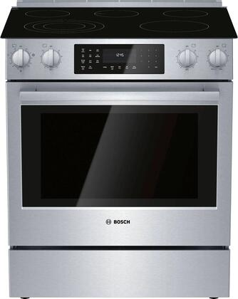 HEIP056U 30″ Benchmark series Electric Slide-in Range with 5 Elements  4.6 cu. ft. Capacity  QuietClose Door and Genuine European Convection