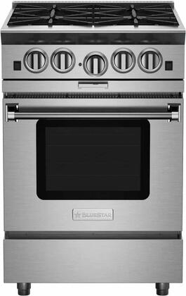 "BlueStar Platinum BSP244BPLT Freestanding Gas Range Stainless Steel, 24"" Platinum Series Range"