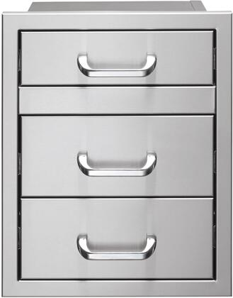 Vintage VU2DR Storage Drawer Stainless Steel, VU2DR Front View