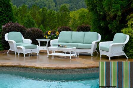 Tortuga Sea Pines LEX651WECHO Outdoor Patio Set White, LEX651WECHO Main Image