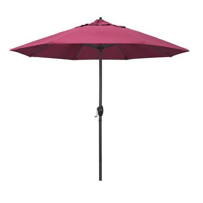 Casa Collection ATA908117-5462 9′ Patio Umbrella With Bronze Aluminum Pole Aluminum Ribs Auto Tilt Crank Lift With Sunbrella 2A Hot Pink