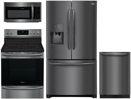 Frigidaire 909228 Kitchen Appliance Package & Bundle Black Stainless Steel, main image
