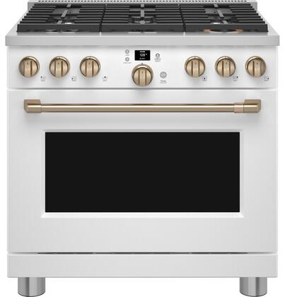 Cafe Customizable Professional Collection CGY366P4TW2 Freestanding Gas Range White, CGY366P4TW2 Gas Range