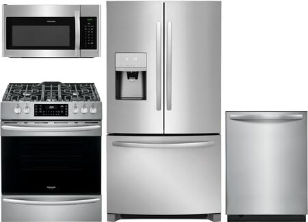 4 Piece Kitchen Appliances Package with FFHB2750TS 36″ French Door Refrigerator  FGGH3047VF 30″ Slide-in Gas Range  FFMV1645TS 30″ Over the Range