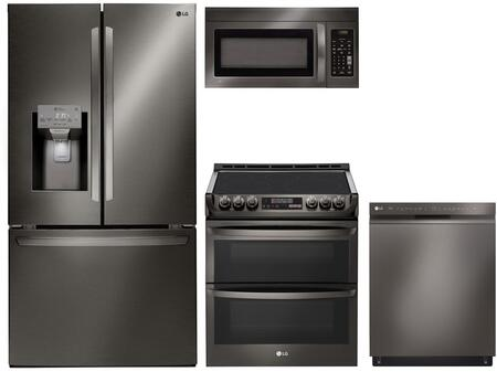 LG 1093423 Kitchen Appliance Package & Bundle Black Stainless Steel, main image