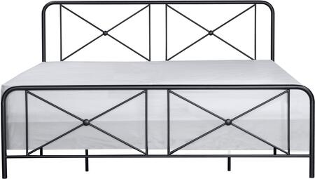 Williamsburg Collection 2585600 Metal KingBed with Decorative Double X Design in