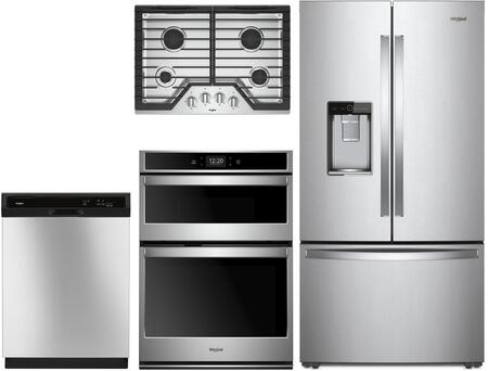 Whirlpool  1010016 Kitchen Appliance Package Stainless Steel, Main Image