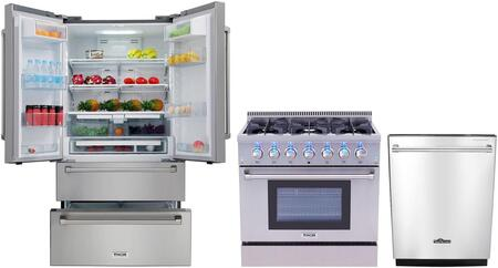 Thor Kitchen  826376 Kitchen Appliance Package Stainless Steel, main image