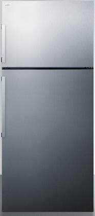Summit  FF1511SS Top Freezer Refrigerator Stainless Steel, FF1511SS Front View