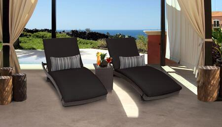 TK Classics BARBADOS CURVED CHAISE 2x ST BLACK