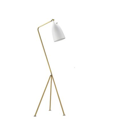 BEL01WH 1-Light Floor Lamps with Steel and Aluminum Materials and 60 Watts in White