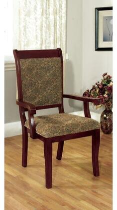 Furniture of America St. Nicholas I CM3224AC2PK Dining Room Chair Brown, Main Image