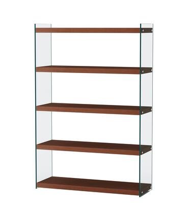 74101-BKS-WAL Contemporary Walnut and Glass Book