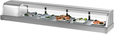 Turbo Air SAK70LN Display and Merchandising Refrigerator Stainless Steel, SAK70LN Angled View