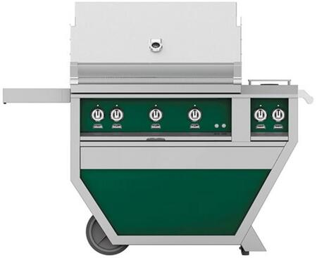 Hestan GMBR36CX2NGGR Natural Gas Grill Green, GMBR36CX2NGGR Front View