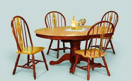 Sunset Trading Sunset Oak Selections DLUTBX4866124SNLO5PC Dining Room Set Multi Colored, Main Image