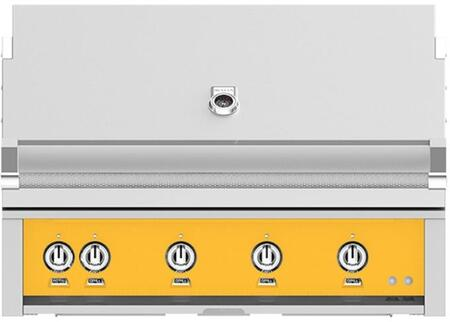 Hestan GSBR42LPYW Liquid Propane Grill Yellow, Front View