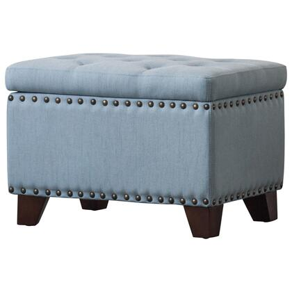 New Pacific Direct Jonas 190011615 Living Room Ottoman Blue, 1900116 15