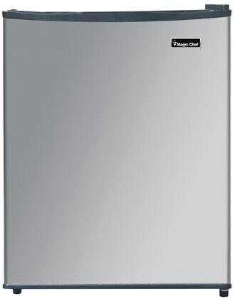 Magic Chef MCAR240SE2 Compact Refrigerator Stainless Steel, Main Image