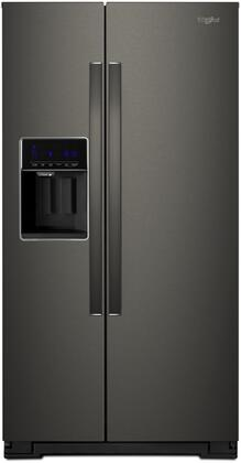 Whirlpool  WRS571CIHV Side-By-Side Refrigerator Black Stainless Steel, Main Image