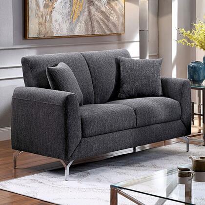 Furniture of America Lauritz CM6088GYLV Loveseat Gray, cm6088gy lv 1