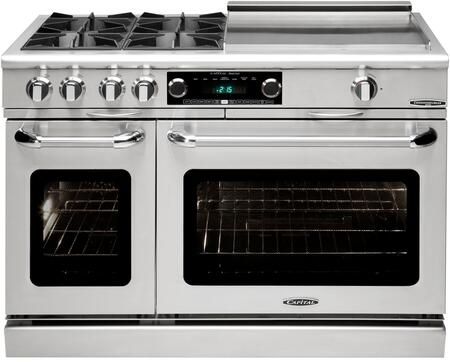 Capital Connoisseurian COB484GGN Freestanding Dual Fuel Range Stainless Steel, Main Image