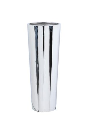 VIOLET-PLT-32 32′ Tall Round Planter with Tapered Base in Polished Stainless