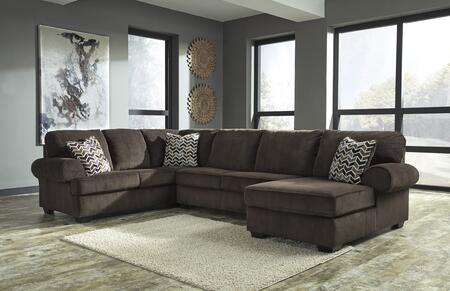 Signature Design by Ashley Jinllingsly 72501663417 Sectional Sofa Brown, 72501 66 34 17