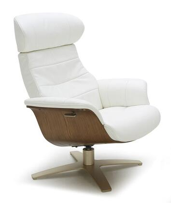 J and M Furniture Karma 18048C Accent Chair White, Main Image