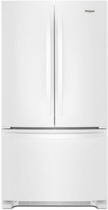 """Whirlpool WRF540CWHW 36"""" White Counter Depth French Door Refrigerator"""