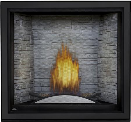 Napoleon STARfire HDX35NT Fireplace Black, Antique White Ledgerock Panel