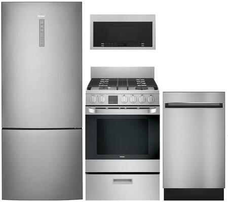 Haier 892832 4 piece Stainless Steel Kitchen Appliances Package