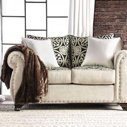 Furniture of America Sinatra SM6152LV Loveseat Beige, main image