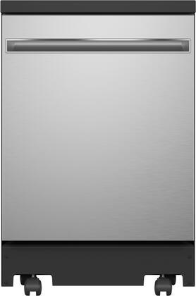 GE  GPT225SSLSS Portable Dishwasher Stainless Steel, GPT225SSLSS Front View