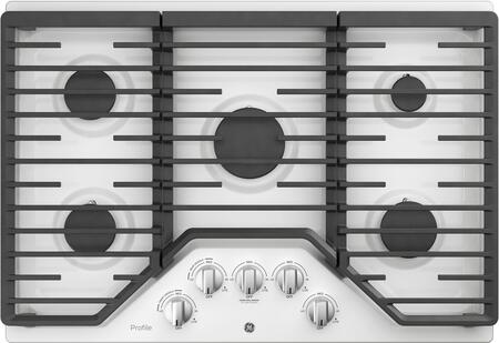 GE Profile PGP7030DLWW Gas Cooktop White, Main Image