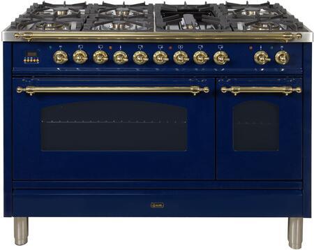 Ilve Nostalgie UPN120FDMPBLLP Freestanding Dual Fuel Range Blue, UPN120FDMPBLLP Liquid Propane Range