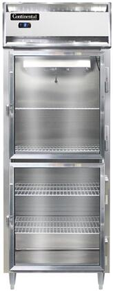 Continental Refrigerator Designer Line D1FESNSSGDHD Commercial Reach In Freezer Stainless Steel, D1FESNSSGDHD Reach-In Freezer