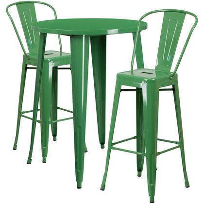 Flash Furniture CH51090BH CH51090BH230CAFEGNGG Outdoor Patio Set Green, CH 51090BH 2 30CAFE GN GG
