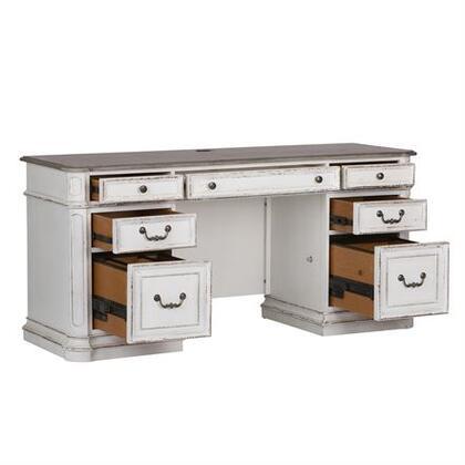 Liberty Furniture Magnolia Manor 244HOJ2PCS Office Desk White, 244 ho120b  draws