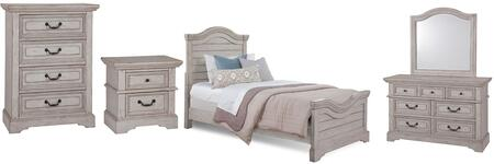 American Woodcrafters Stonebrook Youth 782033PANNSMRDRCD Bedroom Set Gray, Main Image