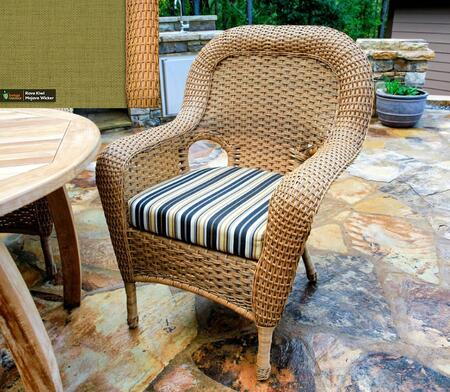 Sea Pines Collection LEX-DC-M-KIWI Dining Chair in Mojave Wicker and Rave Kiwi Fabric