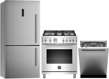 Bertazzoni  1051121 Kitchen Appliance Package Stainless Steel, main image