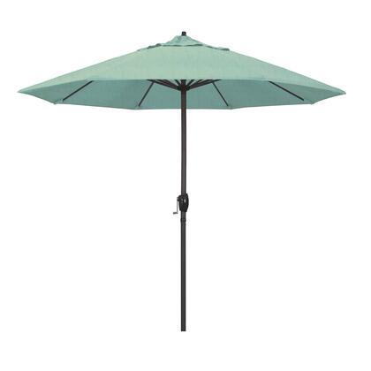 Casa Collection ATA908117-48020 9′ Patio Umbrella With Bronze Aluminum Pole Aluminum Ribs Auto Tilt Crank Lift With Sunbrella 1A Spectrum Mist