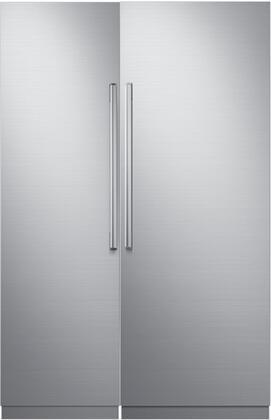 Dacor  772352 Column Refrigerator & Freezer Set Silver Stainless Steel, 1