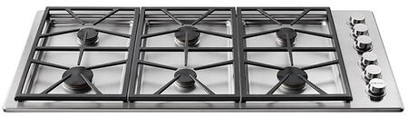 Dacor Heritage HPCT466GS Gas Cooktop Stainless Steel, Front View