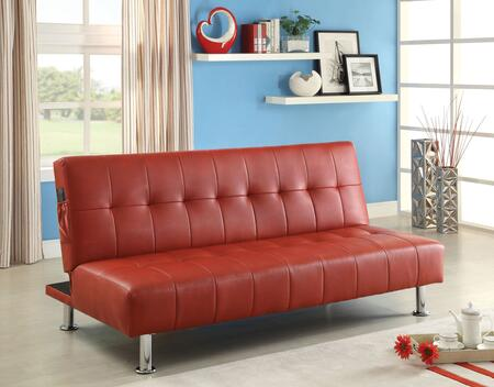 Furniture of America Bulle CM2669PRD Futon RED, Main Image